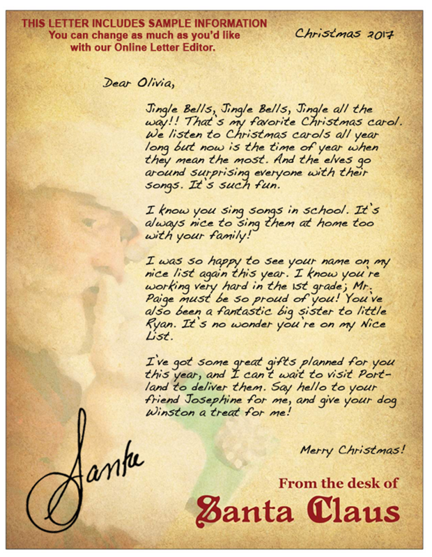Letters from santa jingle bells this letter from santa spiritdancerdesigns Choice Image