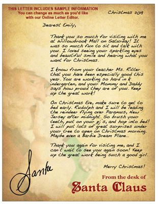 Santa Visit Follow-Up Letter 2019