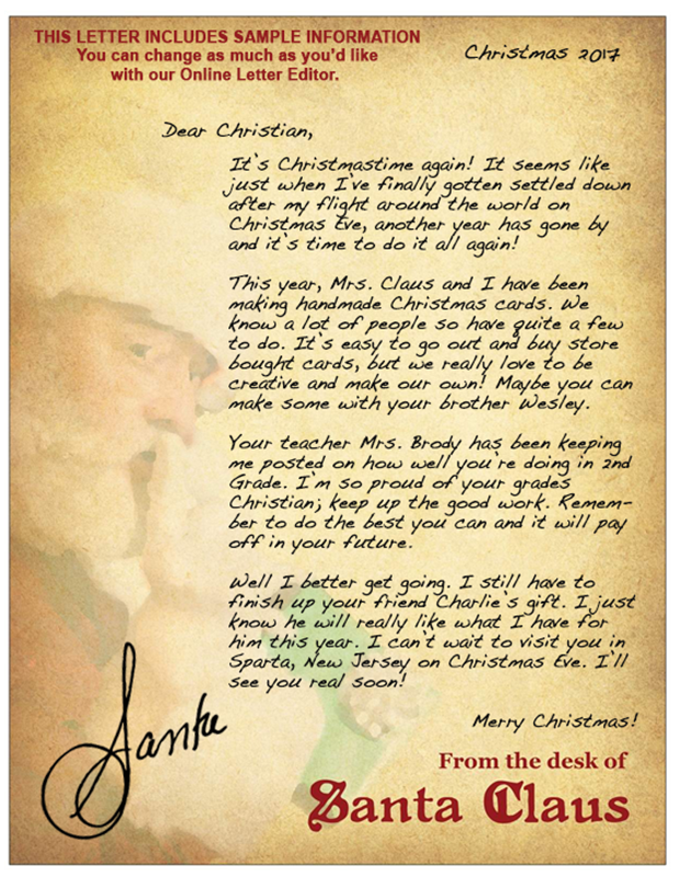 Letters from santa christmas cards this letter from santa spiritdancerdesigns Images