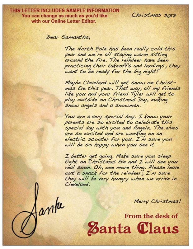 write my own letter from santa