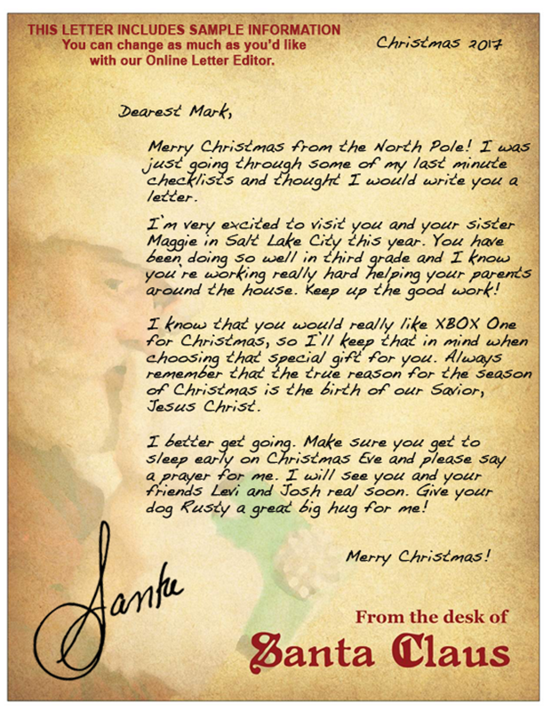 Letters from santa reason for the season expocarfo Image collections