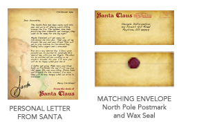 our basic package featuring a 100 personal letter from santa at the north pole choose from up to 15 different customizable templates to personalize