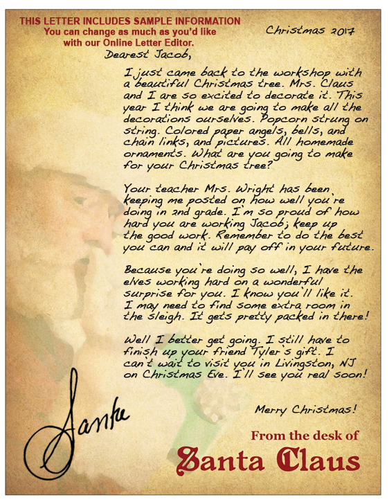 Another Christmas - Letter